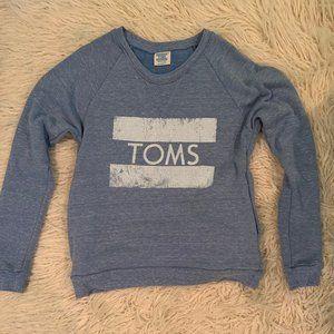 Toms light blue crewneck sweatshirt